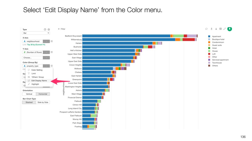 136 Select 'Edit Display Name' from the Color m...