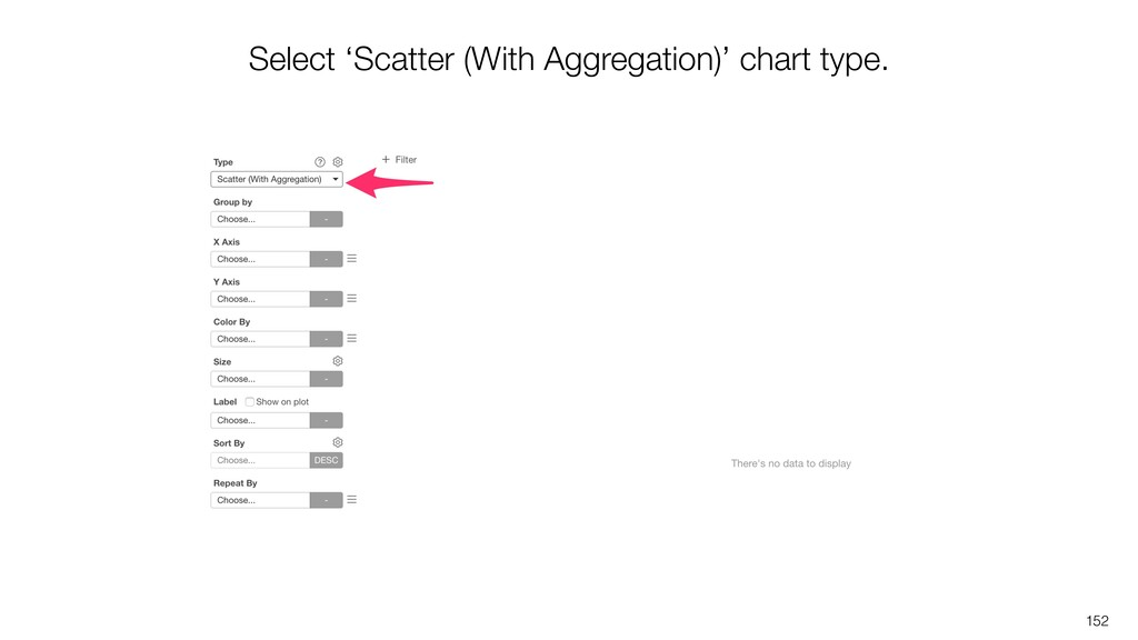 152 Select 'Scatter (With Aggregation)' chart t...