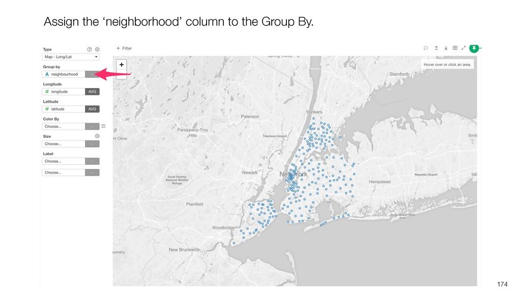 174 Assign the 'neighborhood' column to the Gro...