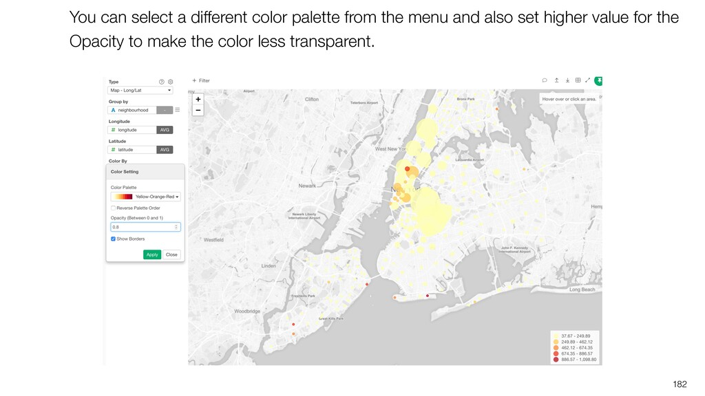 182 You can select a different color palette fr...