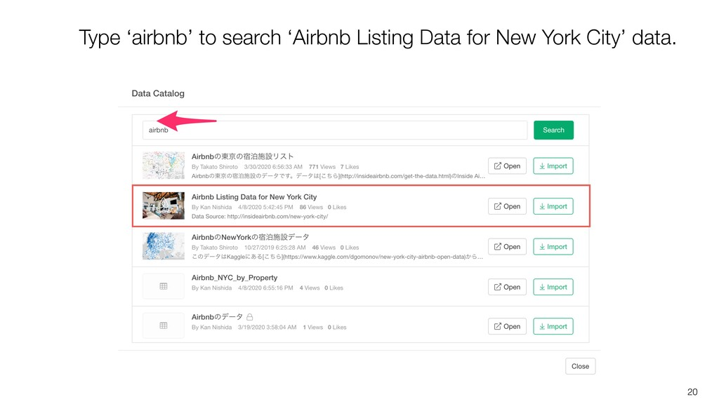 20 Type 'airbnb' to search 'Airbnb Listing Data...