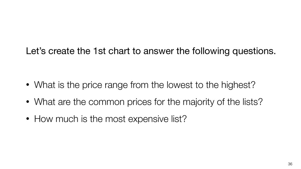 36 Let's create the 1st chart to answer the fol...
