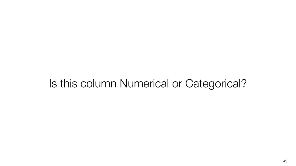 49 Is this column Numerical or Categorical?