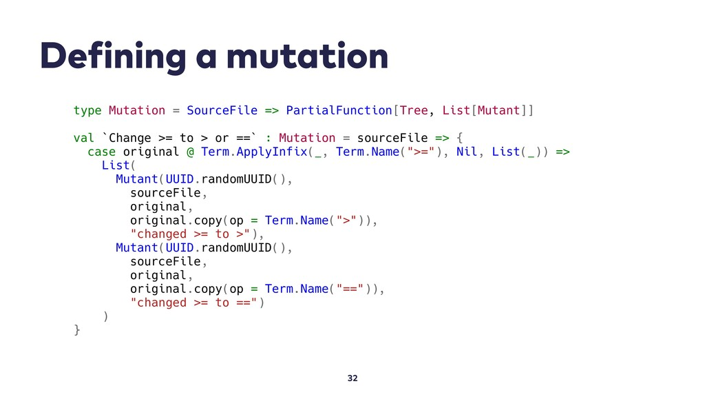 Defining a mutation 32 type Mutation = SourceFi...