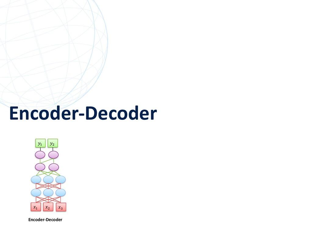 """Encoder-Decoder 58 """" # Encoder-Decoder """" # $"""