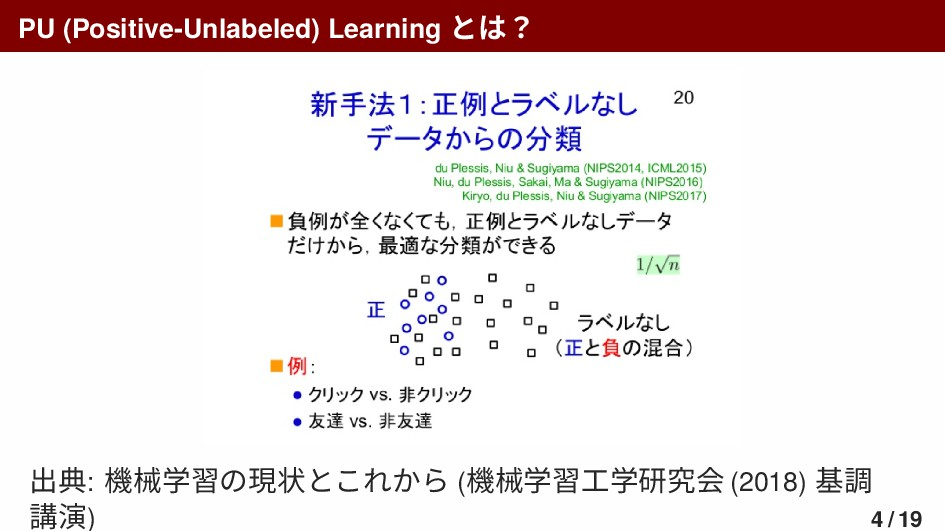 PU (Positive-Unlabeled) Learning とは? 出典: 機械学習の現...