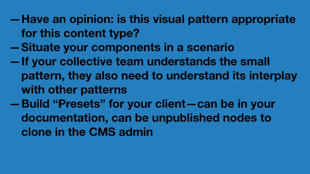 —Have an opinion: is this visual pattern approp...