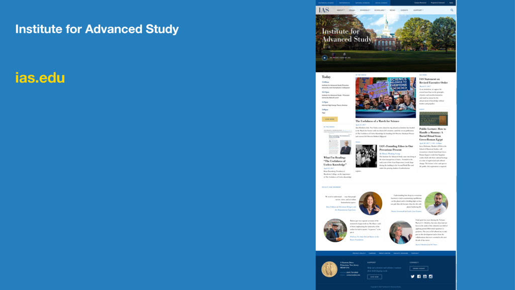 Institute for Advanced Study ias.edu