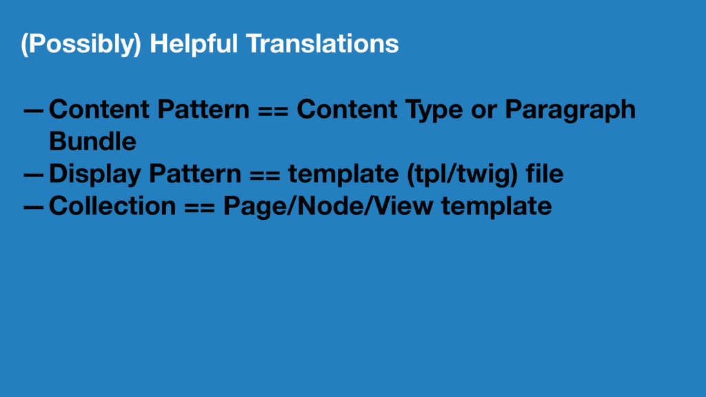 (Possibly) Helpful Translations —Content Patter...