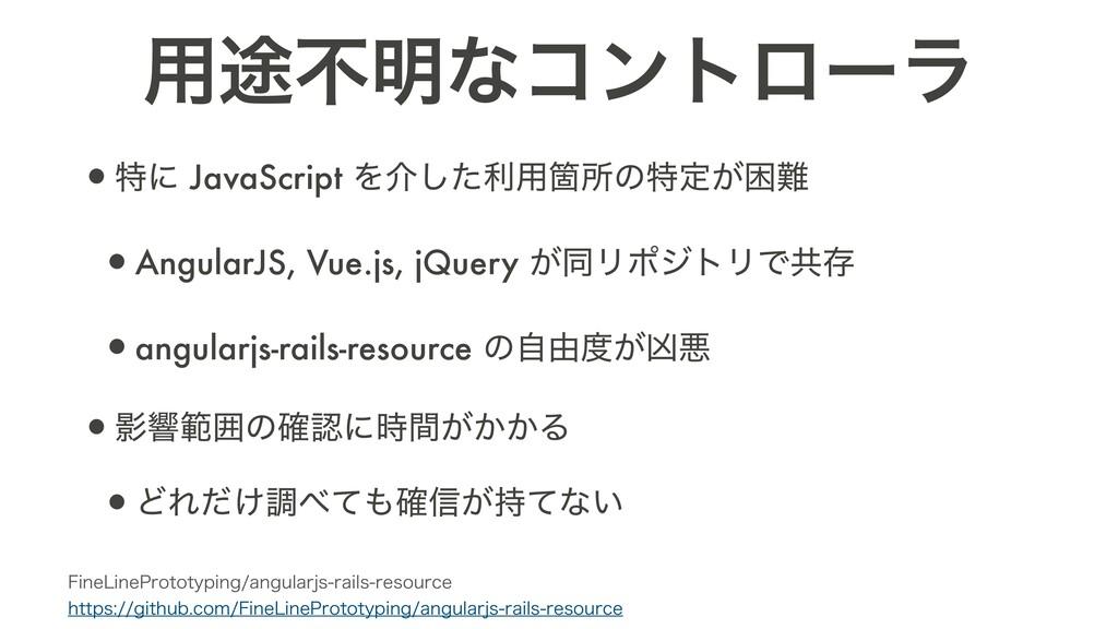 •ಛʹ JavaScript Λհͨ͠ར༻Օॴͷಛఆ͕ࠔ •AngularJS, Vue.j...