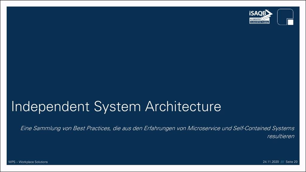 17.09.20 //// Seite 20 WPS – Workplace Solution...