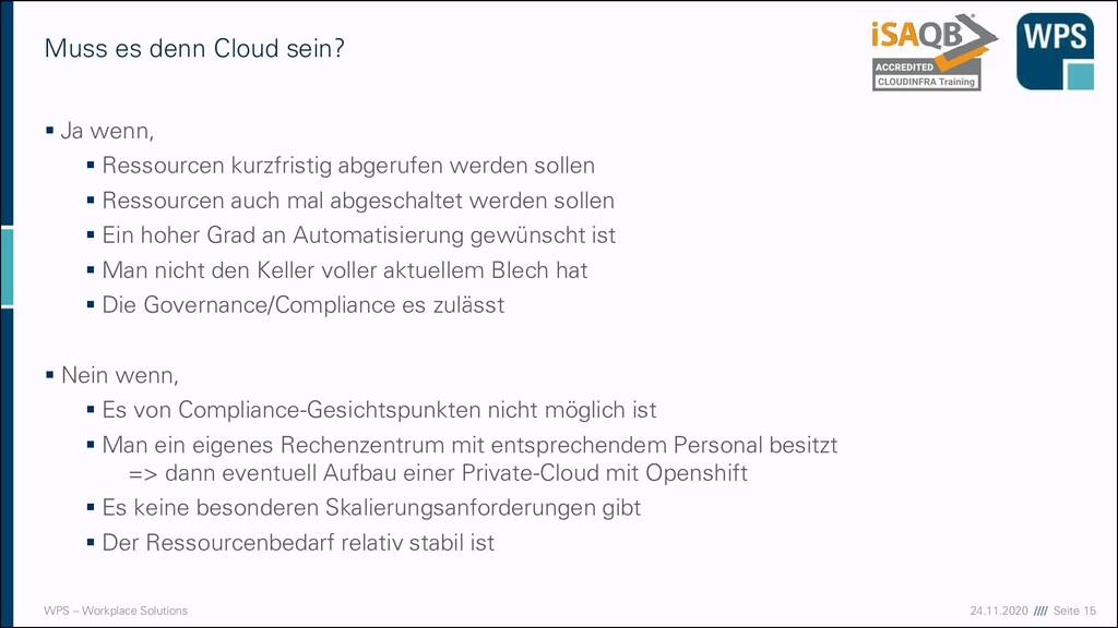 17.09.20 //// Seite 15 WPS – Workplace Solution...