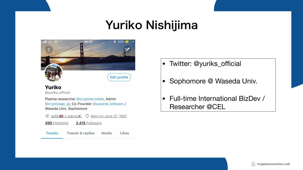 • Twitter: @yuriks_official  • Sophomore @ Waseda...