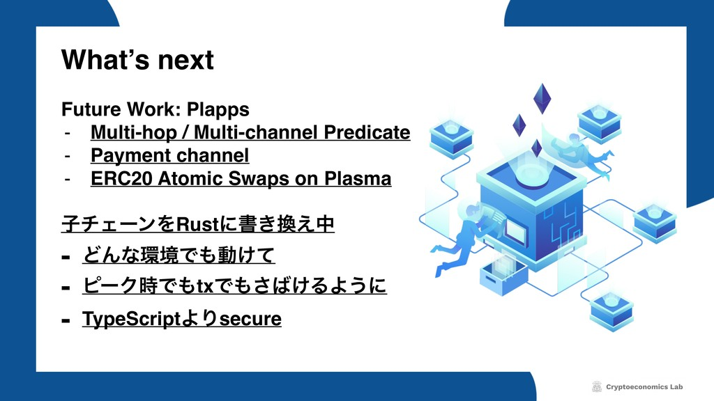 What's next Future Work: Plapps - Multi-hop / M...