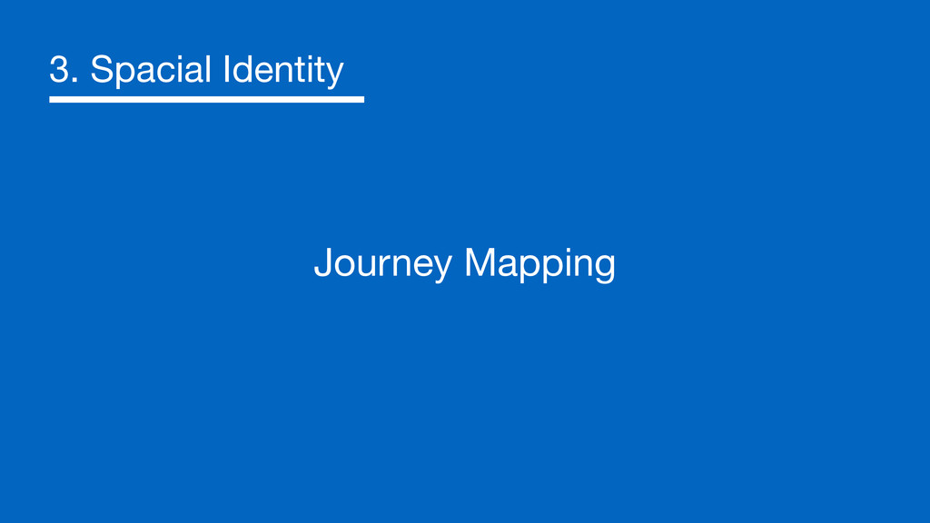 3. Spacial Identity Journey Mapping