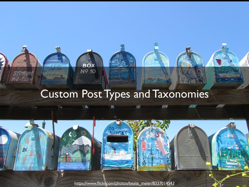 Custom Post Types and Taxonomies https://www.fli...