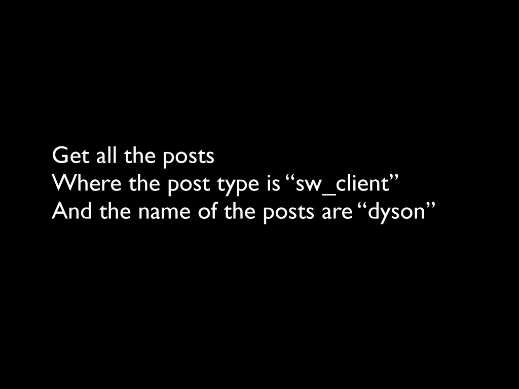 Get all the posts
