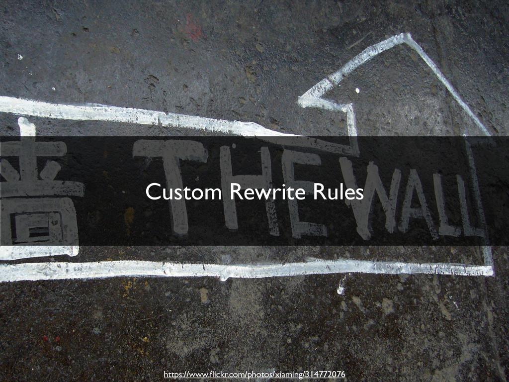 Custom Rewrite Rules https://www.flickr.com/phot...