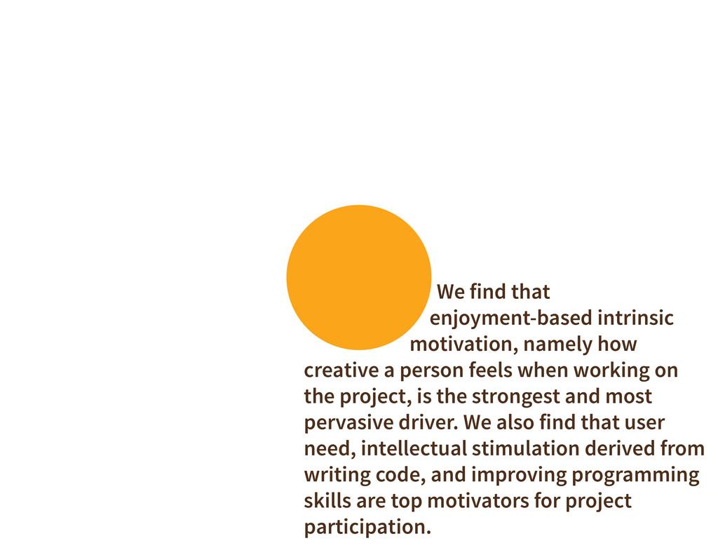 We find that enjoyment-based intrinsic motivati...