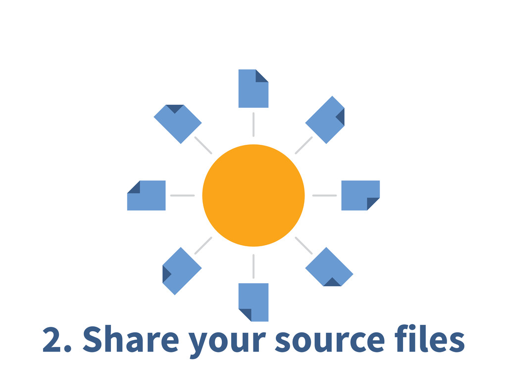 2. Share your source files