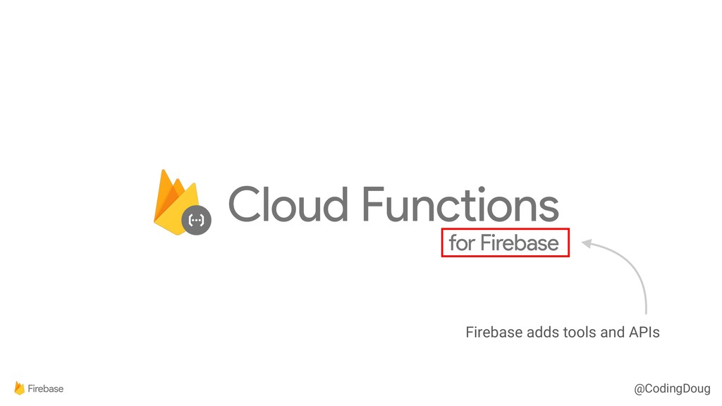 @CodingDoug Firebase adds tools and APIs