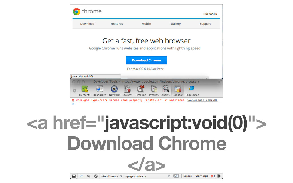"<a href=""javascript:void(0)""> Download Chrome <..."