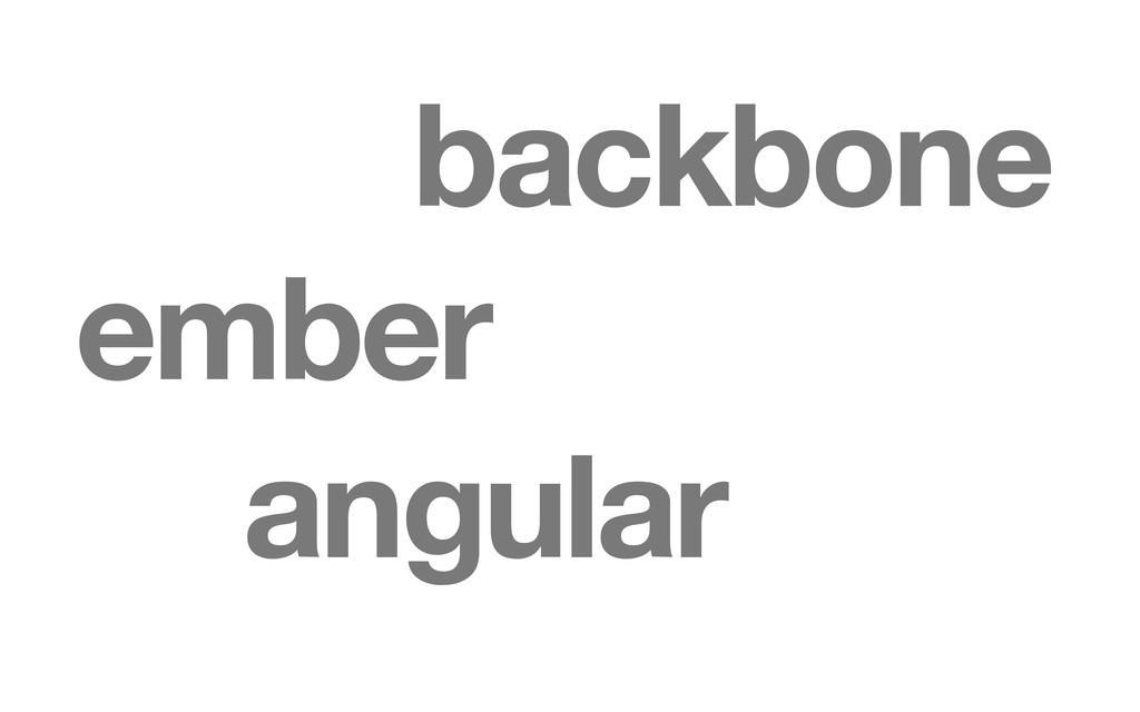 ember angular backbone