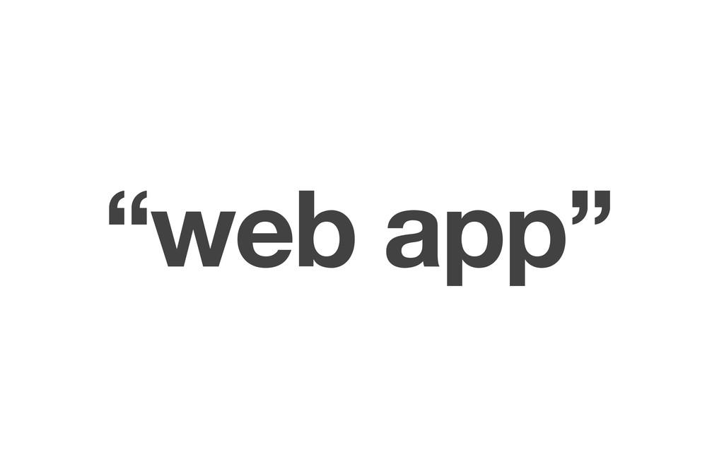 """""""web app"""""""