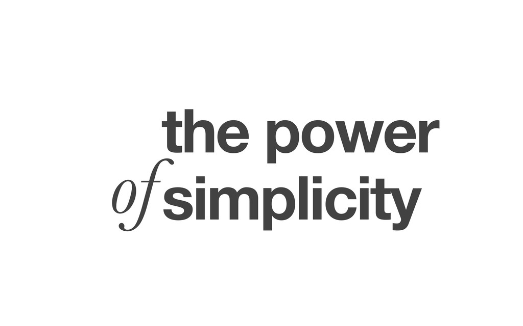 the power simplicity of
