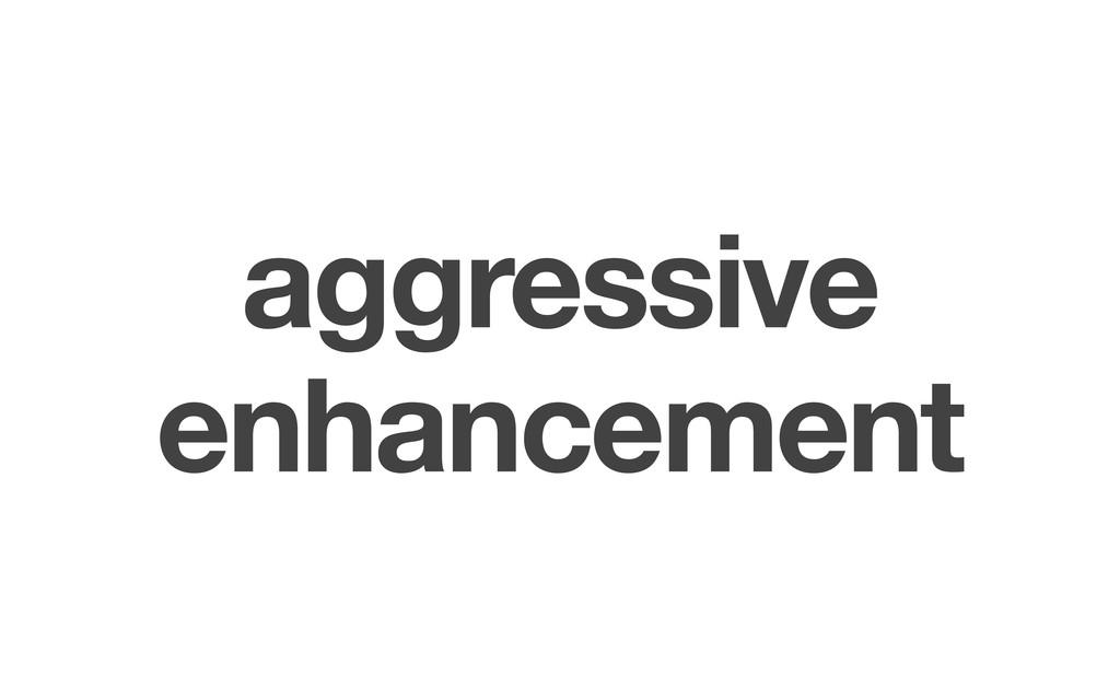 aggressive enhancement