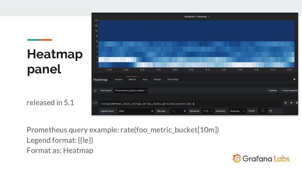 Heatmap panel released in 5.1 Prometheus query ...