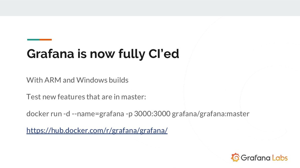 Grafana is now fully CI'ed With ARM and Windows...