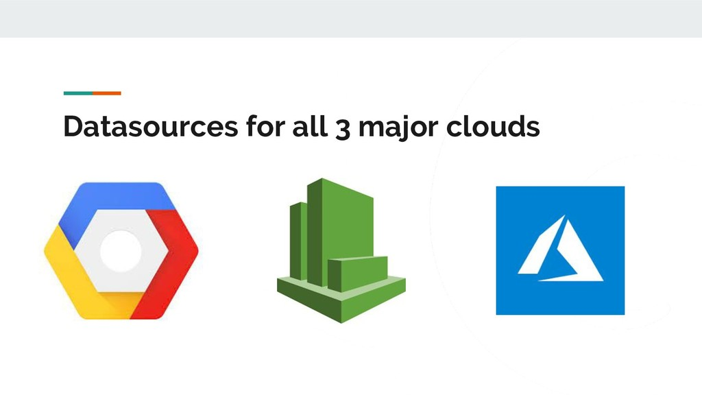 Datasources for all 3 major clouds