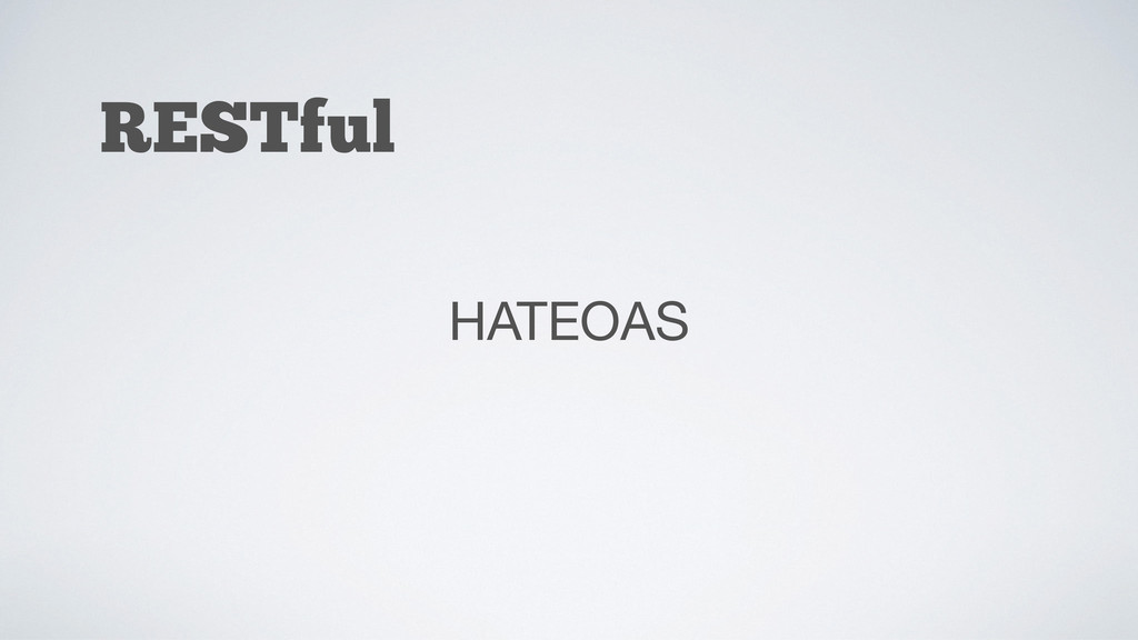 RESTful HATEOAS