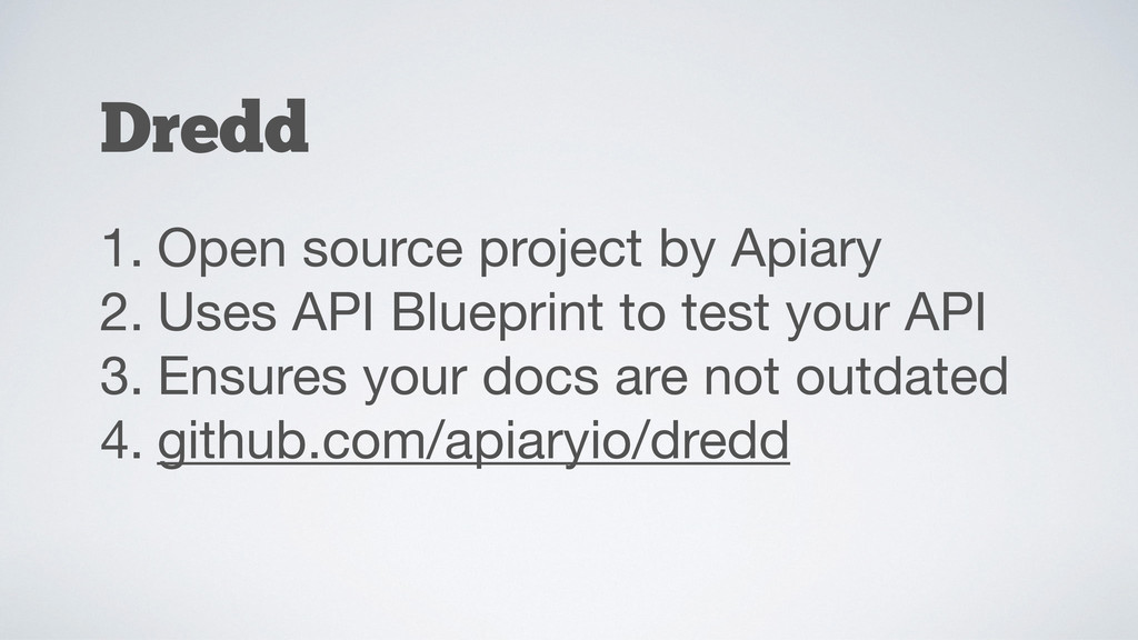 1. Open source project by Apiary  2. Uses API B...
