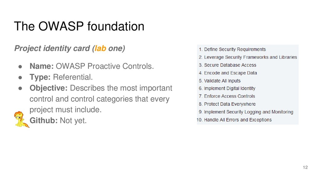 The OWASP foundation Project identity card (lab...