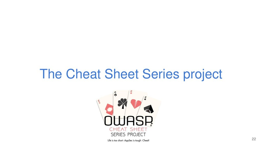The Cheat Sheet Series project 22