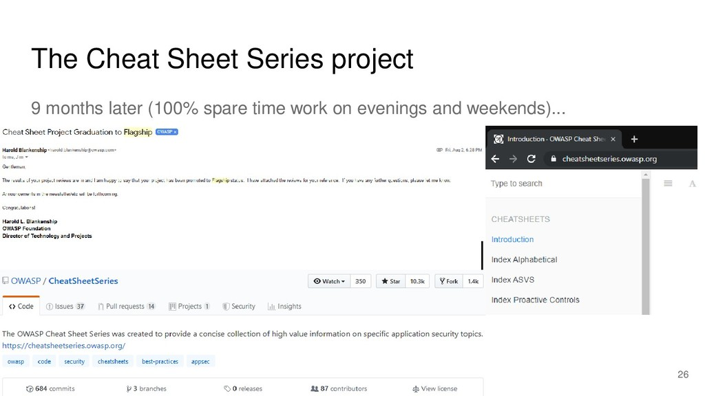 The Cheat Sheet Series project 9 months later (...
