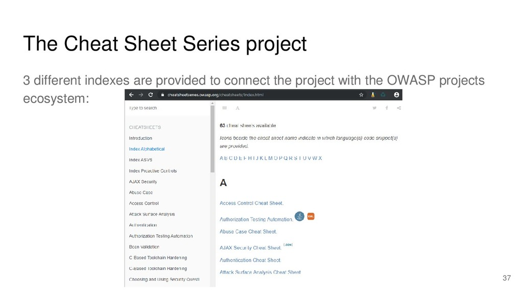 The Cheat Sheet Series project 3 different inde...