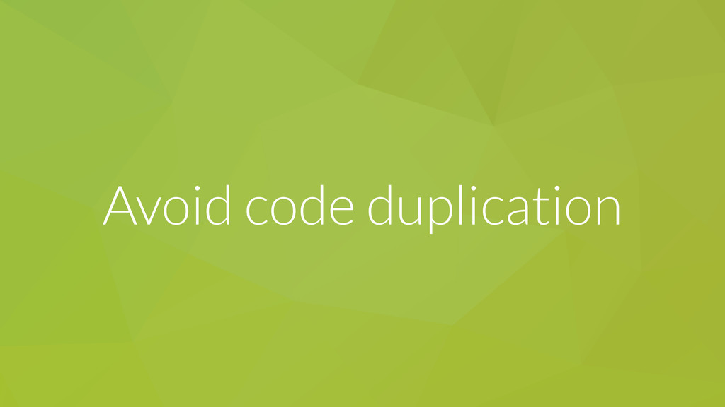 Avoid code duplication