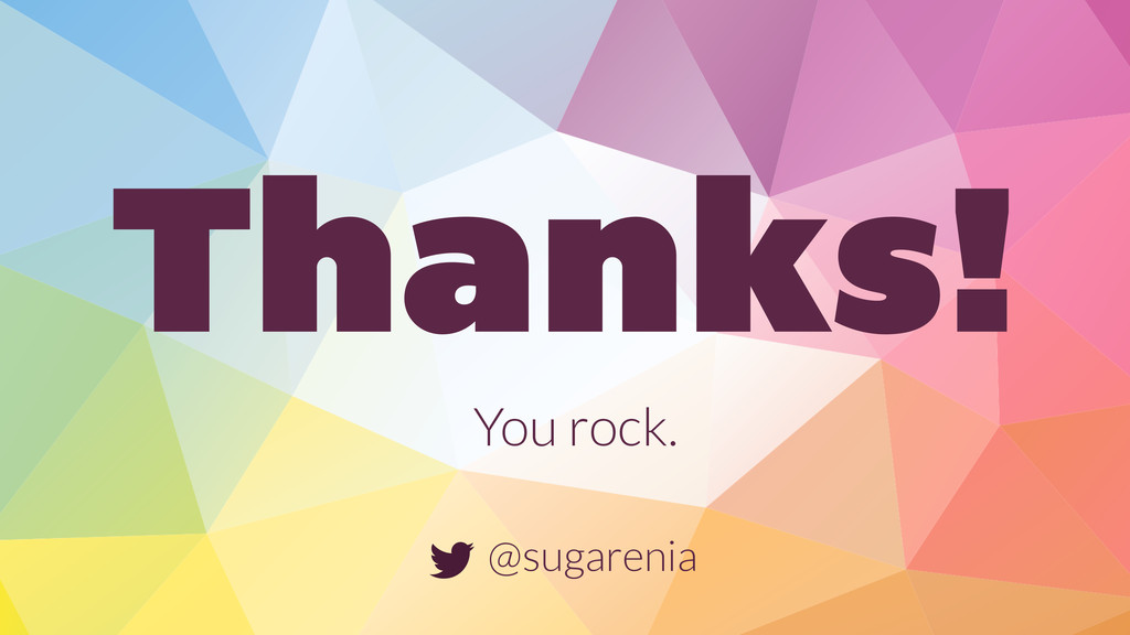 Thanks! You rock. @sugarenia