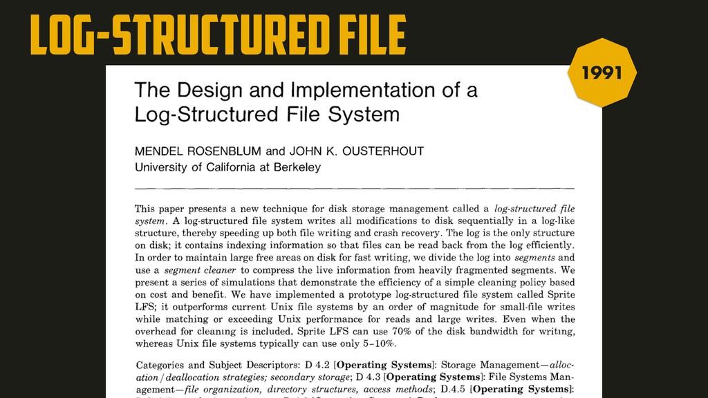 Log-Structured file 1991