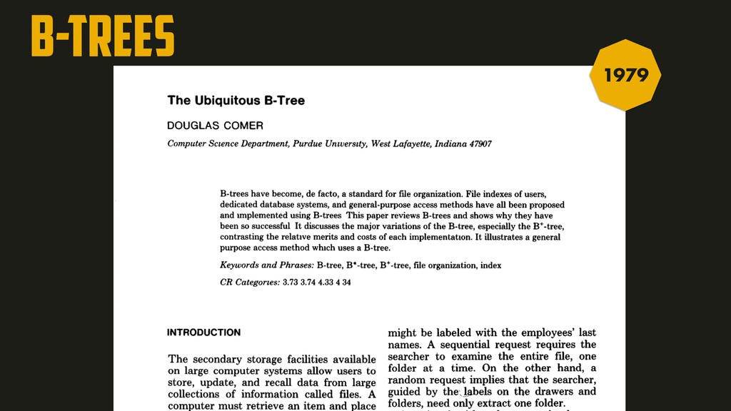 B-TREES A:2 B:2 C:2 A:1 B:1 C:1 D:1 E:1 F:1 G:1...