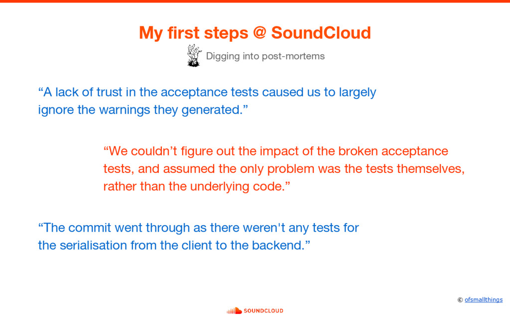 "My first steps @ SoundCloud ""A lack of trust in..."