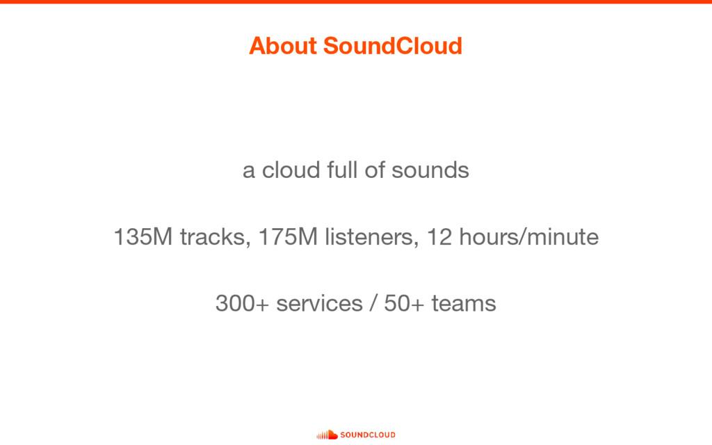 About SoundCloud a cloud full of sounds 135M tr...