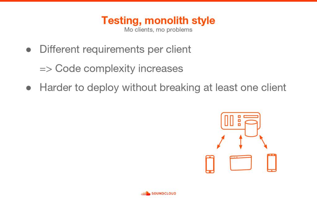 ● Different requirements per client => Code com...