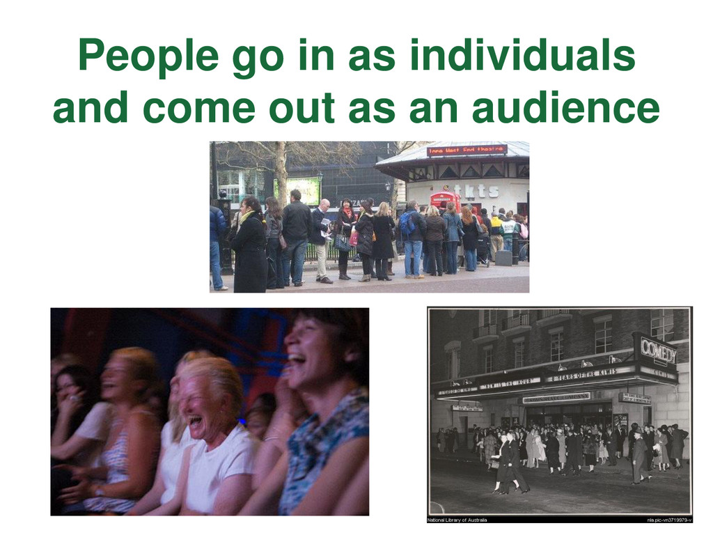 People go in as individuals and come out as an ...
