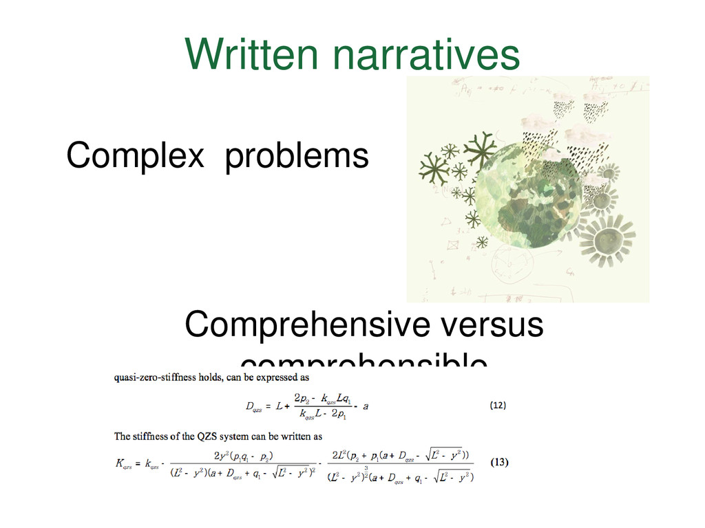 Written narratives Complex problems Comprehensi...