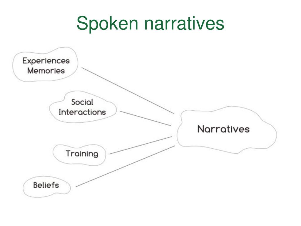 Spoken narratives