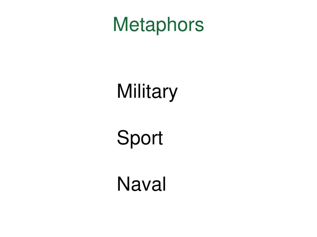 Metaphors Military Sport Naval